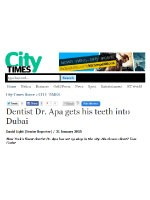 Khaleej Times - City Times (online) - Dr. Apa - 31st January 2015